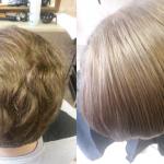 Vyriškas plaukų tiesinimas keratinu 4